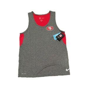 San Francisco 49ers Nike Men's Dri Tank Top Small
